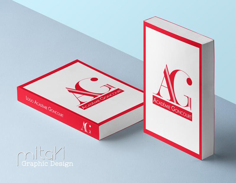 Création du logo officiel de l'Académie Goncourt par Mitaki-Design, graphiste Vaucluse