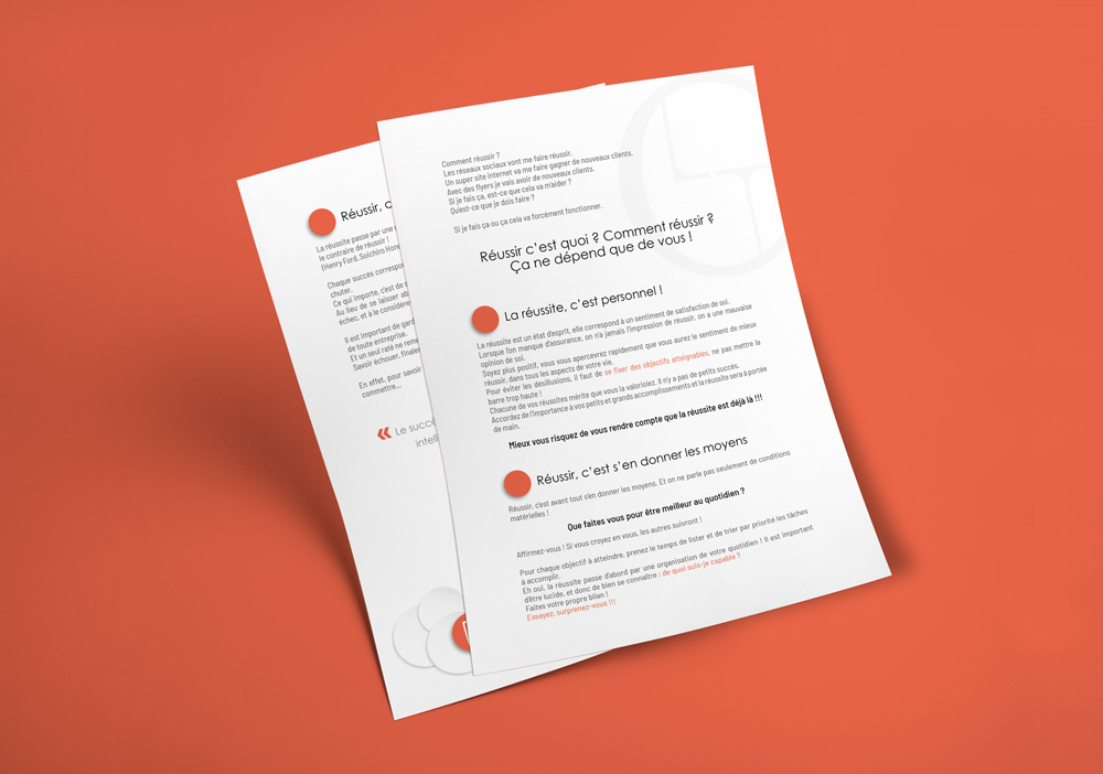 Mise en page articles Laurent Tallet Consulting, Isle sur Sorgue par Mitaki Design