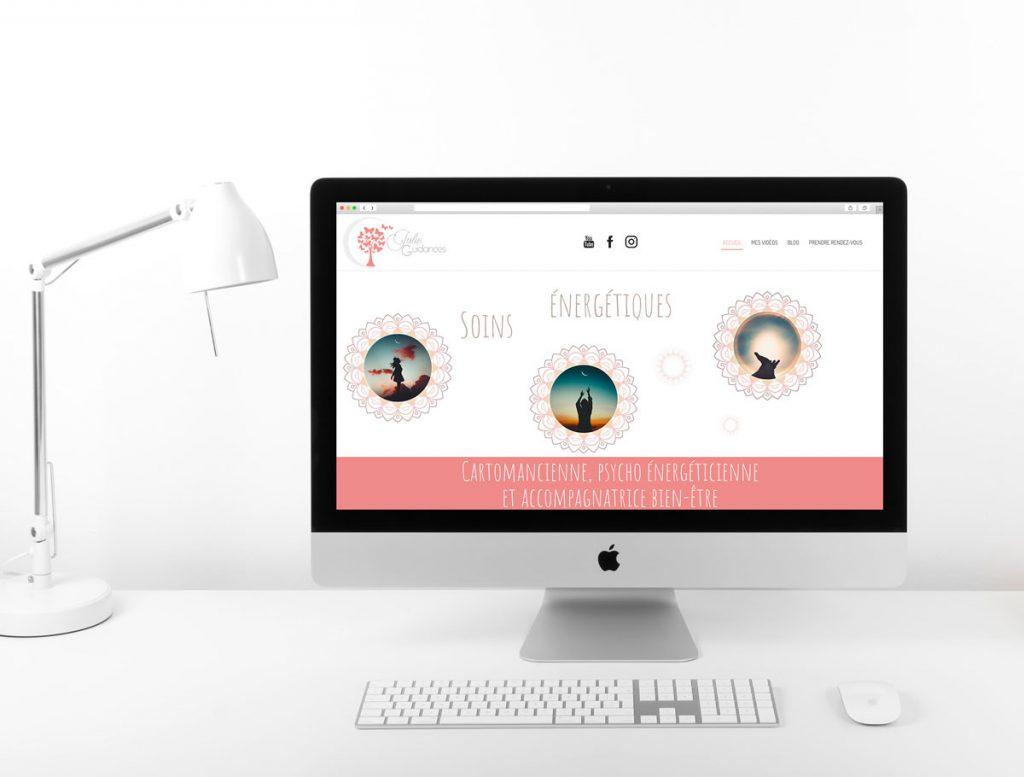 Mitaki Design graphiste et webdesigner à l'Isle sur Sorgue : création site ecommerce Julie Guidances, près d'Avignon