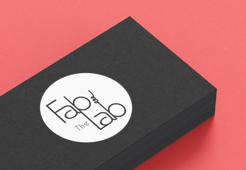 Création logo The FabLab par Mitaki Design, graphiste à l'Isle sur Sorgue près d'Avignon