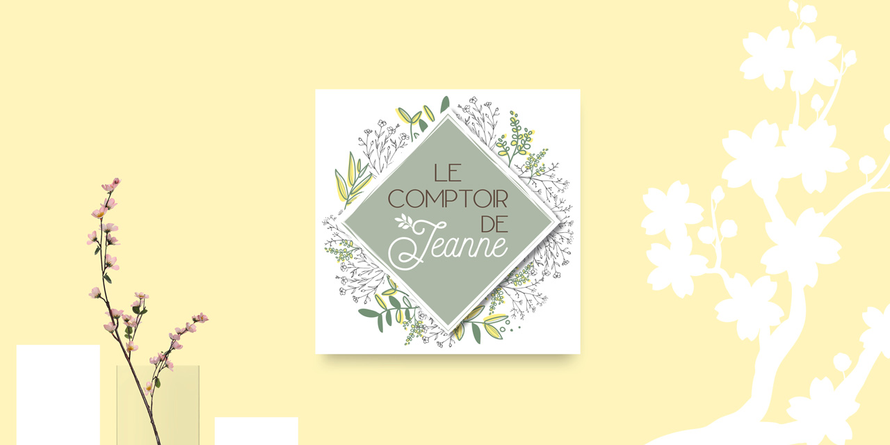 Création logo Le comptoir de Jeanne, Cavaillon par Mitaki Design