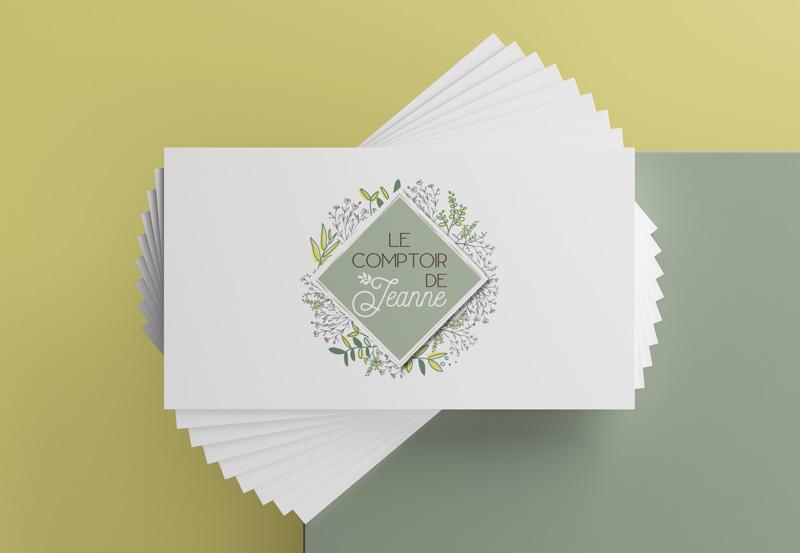 Création logo Le comptoir de Jeanne par Mitaki Design